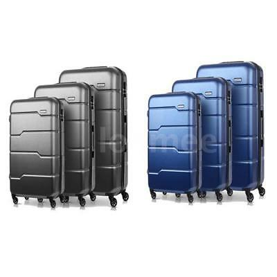 3Pcs Luggage Travel Set Bag ABS + PC Trolley Spinner Suitcase W/TSA Lock F8V3