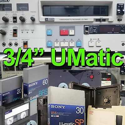 "3/4"" U-Matic SP to Blu-ray Video Tape Reel Digitizing VCR Transfer Sony Ampex 3M"