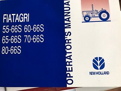 Fiat Tractor Operators Manual Brand New