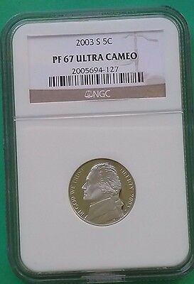 US 2003 S Nickel 5c PF67 Ultra Cameo