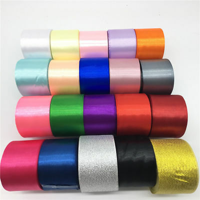 "Free Shipping 2""(50mm) Wide 25 Yards Satin Ribbon Wedding Craft Bows Gift Ribbon"