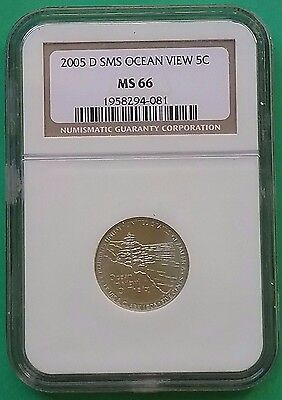 US 2005 D SMS Nickel 5c Ocean Views MS66