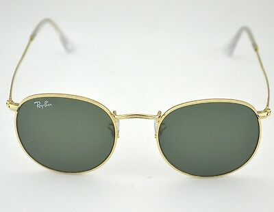 Ray-Ban RB3447 Round Metal 001 Gold Frame/ Green Classic G-15 Lens Sunglasses 50