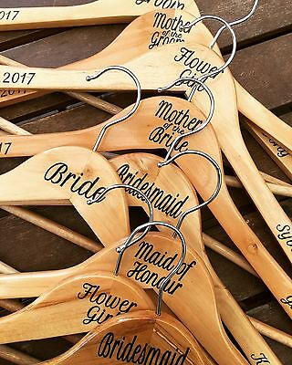 Personalised Wedding Coat Hanger perfect for the Bride, Bridesmaid, Groom etc