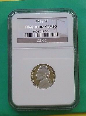 US 1978 S Nickel 5c PF68 Ultra Cameo