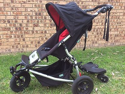 Mountain Buggy Swift + Bump Rider + spare wheel/cover