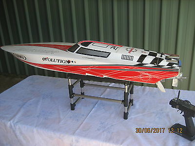 Rc Gas Boat Founder Evolution Monohull  Length 1360Cm Zenoah G300Pum  Engine