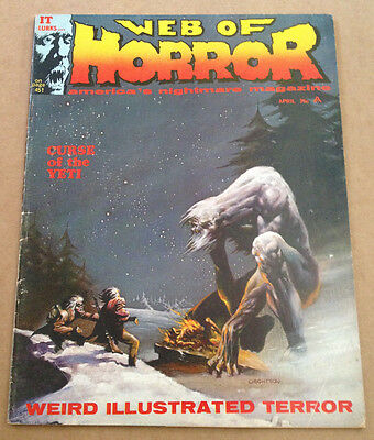 Web Of Horror # 3 - 1St Bernie Wrightson Cover Art / Scarce - Major Mags 1970