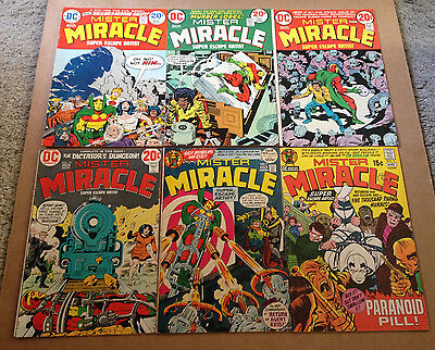 Mister Miracle # 3/7/13/15/17/18 (6 Issues) Kirby / Darkseid - Dc Comics 72-73