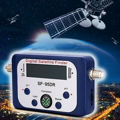 LCD Digital satellite signal meter Finder Dishnetwork Direc TV dish Free compass
