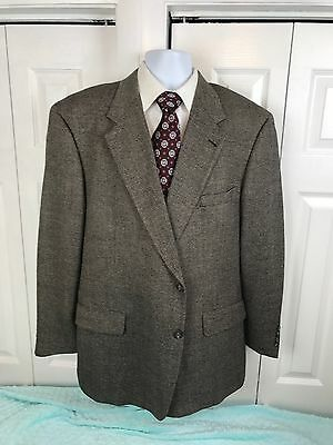 Hart Schaffner & Marx Brown Tweed Two Button Sport Coat Size 48 R