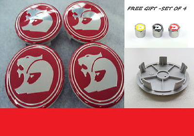 Centre Caps RED for holden VT VX VY VZ VU mag SS to suit HSV wheels 63mm