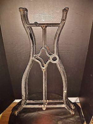 Pair Antique CAST IRON LEGS stand Industrial Sewing Machine Table Base