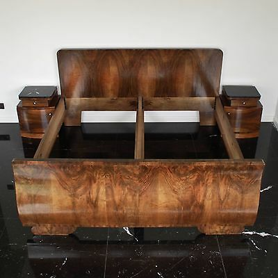 Art Deco Walnut Bed