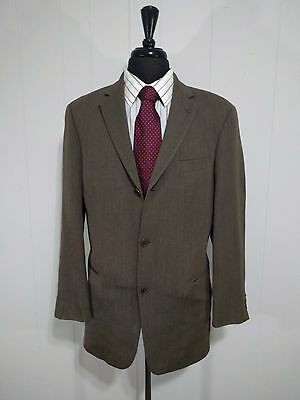 Men's Hugo Boss Gray 3 Button Sports Coat 100% Wool 40L