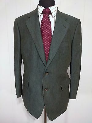 Men's Brooks Brothers 3 Button Green Sports Coat Double Vented 40S