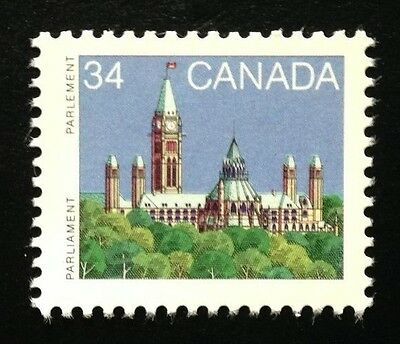 Canada #925b RP 13.3x14 MNH, Parliament Definitive Booklet Stamp 1986