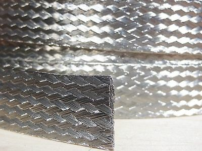 """10 FEET 3/8"""" BRAIDED GROUND STRAP GROUNDING Tinned Copper Flat Braid MADE IN USA"""