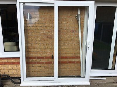 Upvc double glazed patio doors picclick uk for Double patio door width