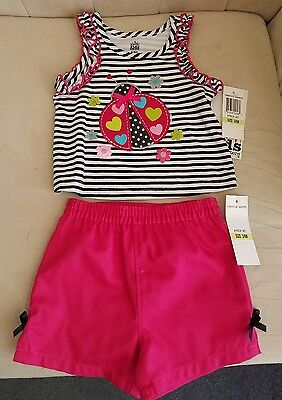 Infant girl ladybug shirt with shorts outfit size 3/6 months BRAND NEW with tags