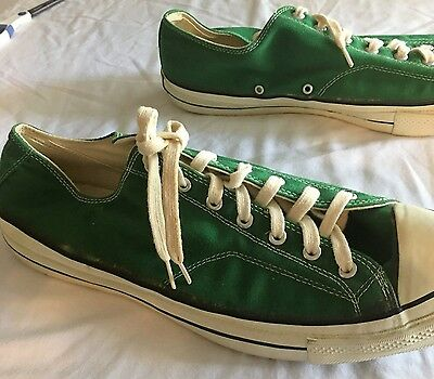 Converse Chuck Taylor Vintage black tag AMAZON GREEN Size 17 All Star 1960-70