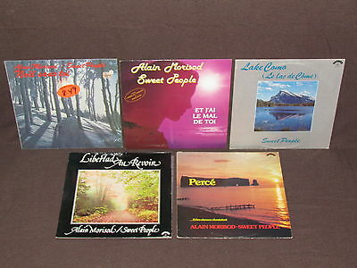 ALAIN MORISOD & SWEET PEOPLE 5 LP RECORD ALBUMS LOT COLLECTION Lake Como/Noel+