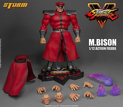 Storm Collectibles M. Bison 1/12 Action Figure Street Fighter V NEW