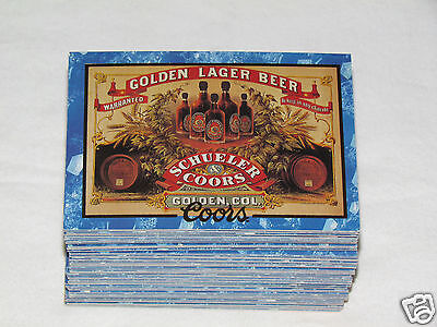 1995 COORS CARDS Trading Card Complete Set #1-100 Beer Brewing Company Ads
