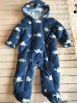 Baby Boys Clothes 0-3 Months-Cute  Snowsuit Pramsuit All in One - New