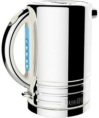 Dualit 72923 Architect Stainless Steel Kettle, 1.5L, Canvas White