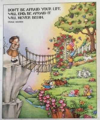 Handmade Fridge Magnet-Mary Engelbreit Artwork-Don't Be Afraid