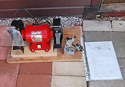 "Clarke 6"" bench grinder CBG 6RD with drill sharpening attachment"