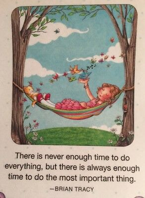 Handmade Fridge Magnet-Mary Engelbreit Artwork-There Is Never Enough Time