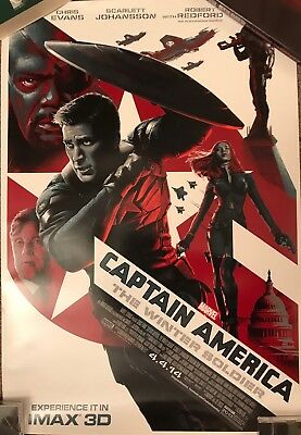 CAPTAIN AMERICA WINTER SOLDIER Original Promo Movie Poster IMAX Endgame Avengers