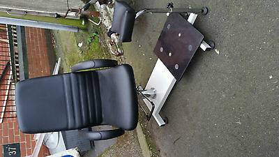 Vintage ? Chiropodist / Beauty / Therapy/medical/industrial Chair With Leg Rest
