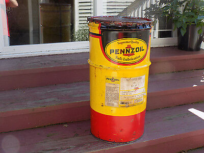 Pennzoil Tall Grease Empty Can with Lid