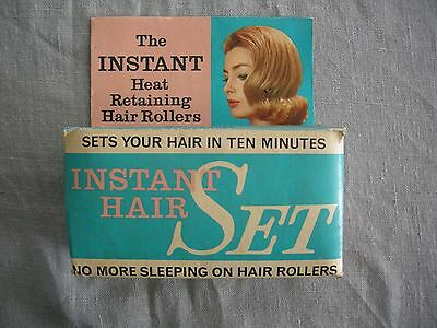 Vintage 'The Instant' Heat Retaining Hair Rollers x 8 Boxed Vgc