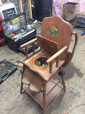 Antique Convertible High Chair