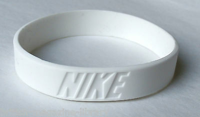 White - x1 NEW Nike Wrist Band Baller Silicone Rubber Band