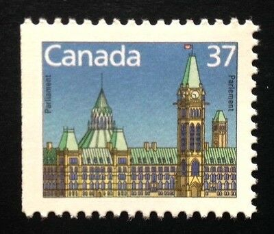 Canada #1163cs Left HP 13.3x14 MNH, Parliament Buildings Booklet Stamp 1988