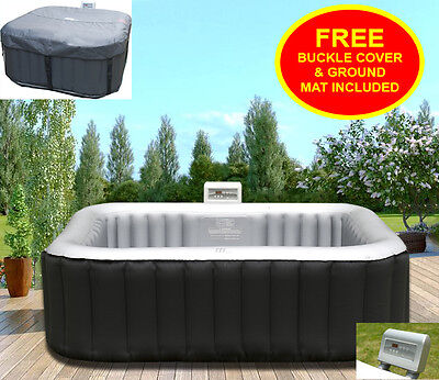 Heated Hot Tub Jacuzzi Spa Outdoor Garden Inflatable Mspa 4 Seater Person