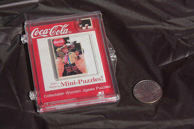 NIB MINT 2002 Coca Cola Peter Parker Mini Wooden Puzzle Youth Cowboy Theme