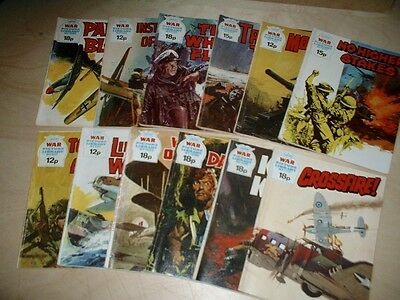 12 assorted WAR PICTURE LIBRARY -STORIES MAGAZINES/ COMICS - action 1970's/80's