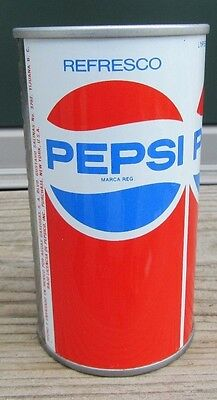 1970's Straight Steel Pepsi-Cola PEPSI Pull Tab Soda Pop Can Top Open Mexico
