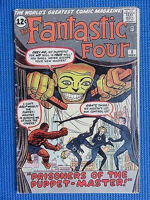 Fantastic Four # 8 - (Vg) - 1St Appearance Of The Puppet-Master, Alicia Masters