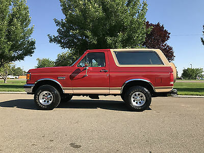 1989 Ford Bronco Eddie Bauer 1989 FORD BRONCO EDDIE BAUER 4X4 5.0L 302 V/8 WITH ONLY 99.000 ACTUAL MILES