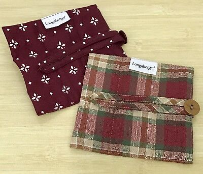 Longaberger Handle Gripper Lot: Traditional Red and Orchard Park Plaid