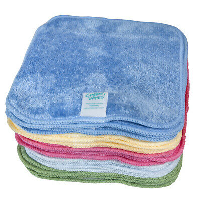 Bamboo Velour Baby Wipes Great for Sensitive Skin - Rainbow Colours (15x15cm)