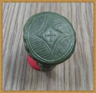 Ancient Bronze BYZANTINE Ring ** CROSS ** VERY RARE**