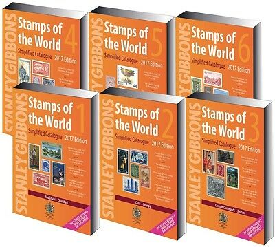 Stanley Gibbons Stamps Of The World 2017 Catalogue. 6 Volumes